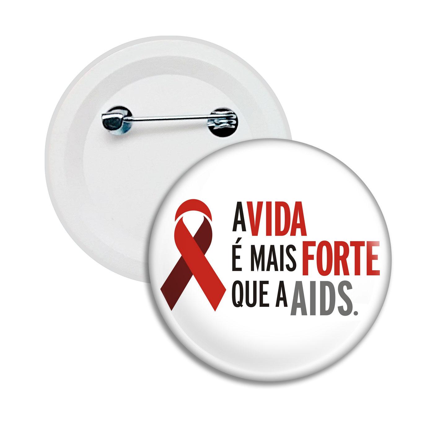 Botton Dezembro Vermelho | AIDS HIV